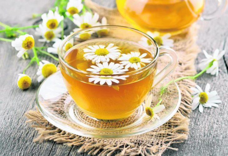 Прием успокоительного чая